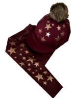 Adults Burgundy/Rose Gold  Base Layer Cross Country Colours